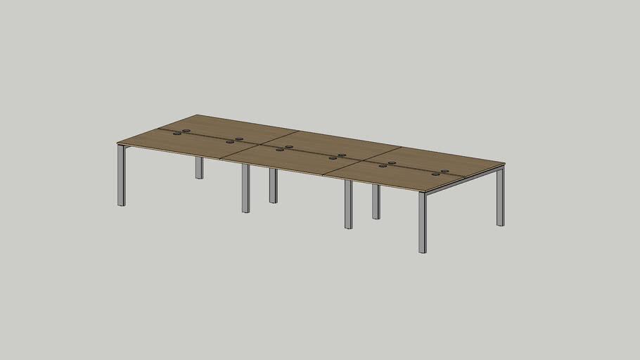 No.1 working bench 4200x1625 grommet