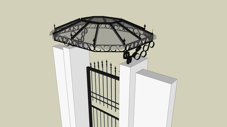 roof for pedestrian gate