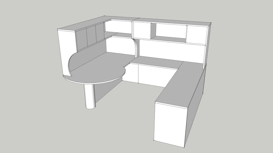 Custom Managar corner office furniture by Candex Custom Corp.