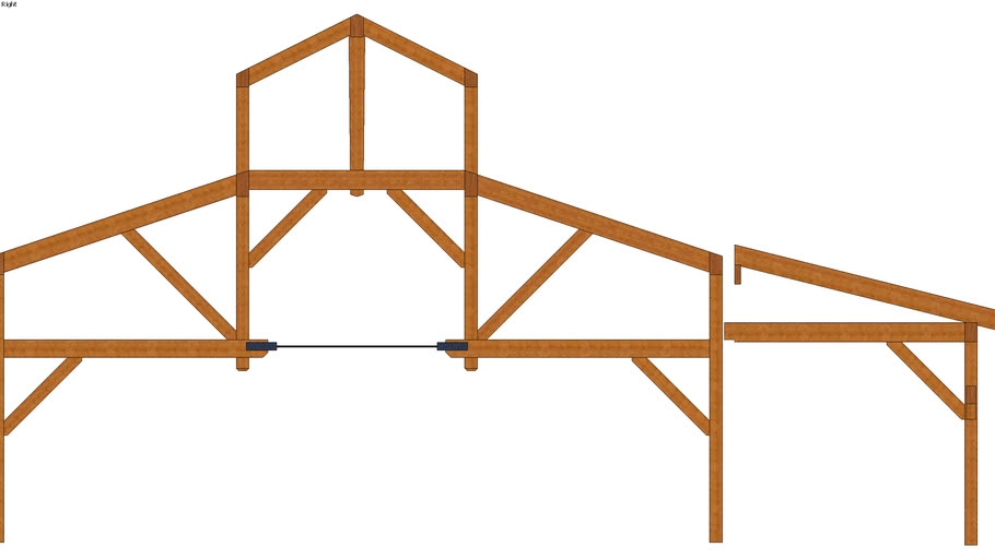 Urban Event Barn Timber Frame 04