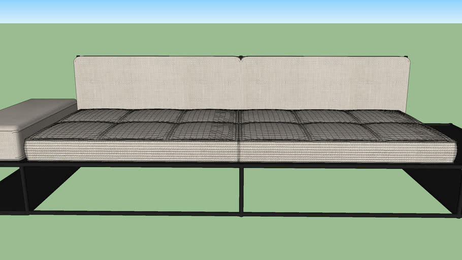 sofá carbono 118 stripes - Felipe Protti