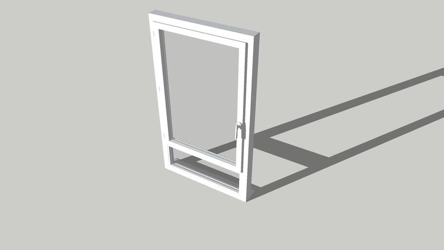 Fenêtre PVC 1 vantail avec imposte dessous