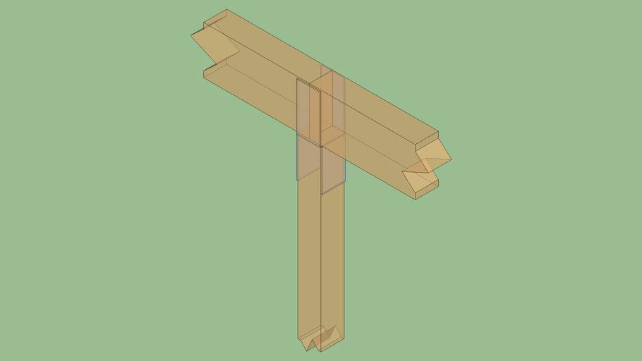 Post-to-ridge concept connector design