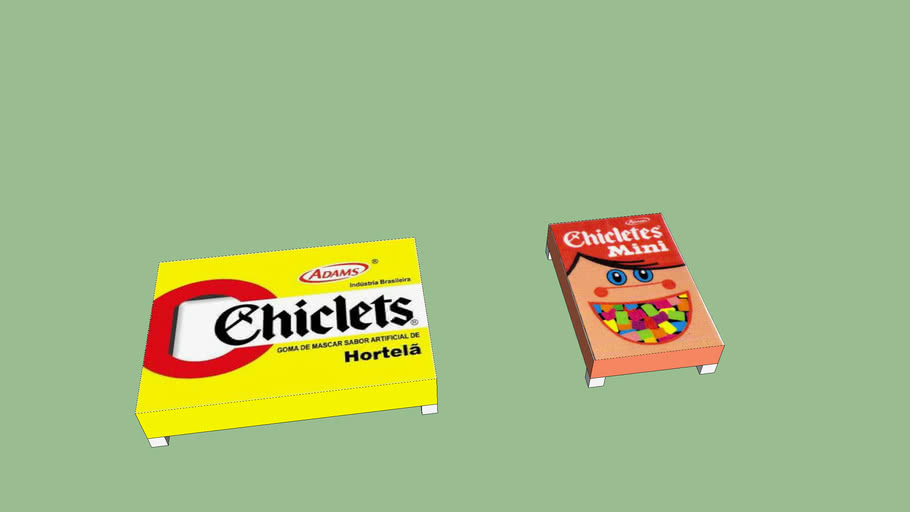 mesinha chiclets, chewing gum coffe table
