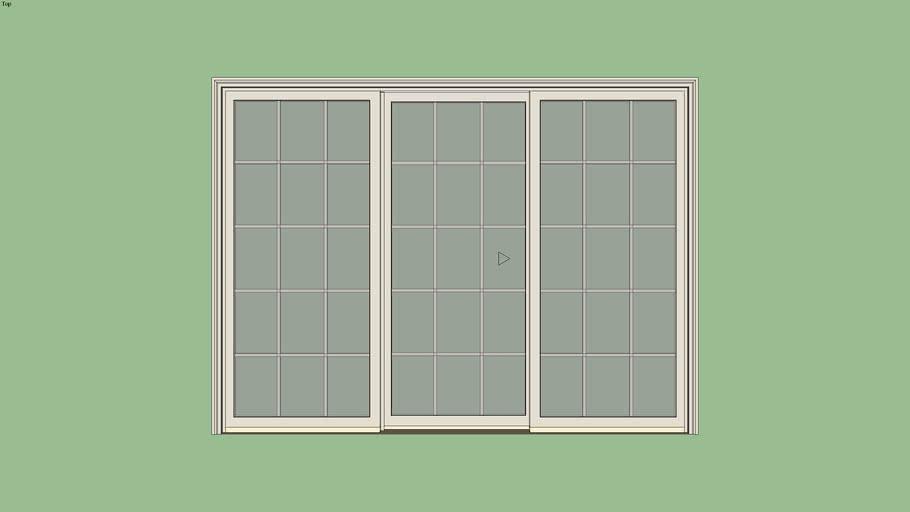 Marvin Essential Sliding Patio Door 3-Panel