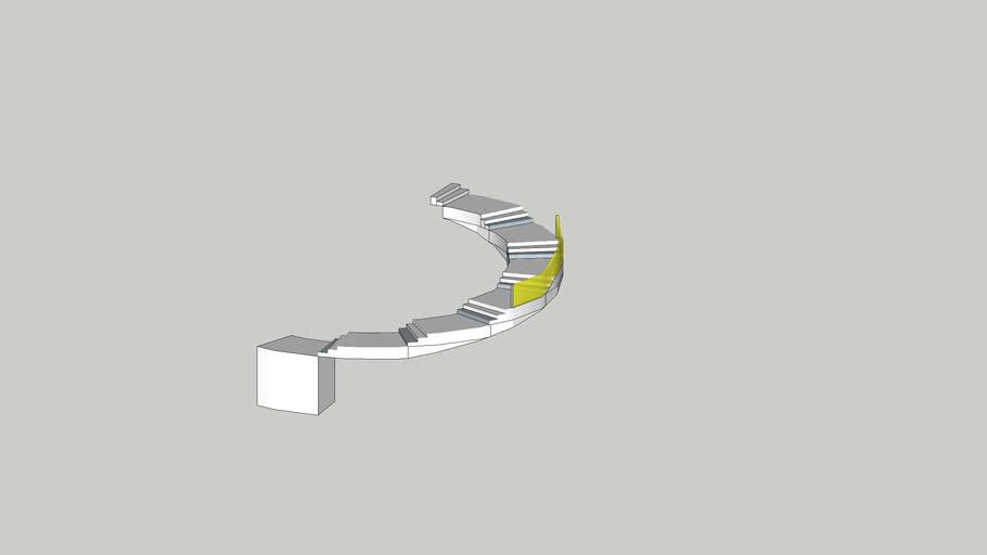 Circular Stair Way for JohanthanB Added Hand Rail Concept