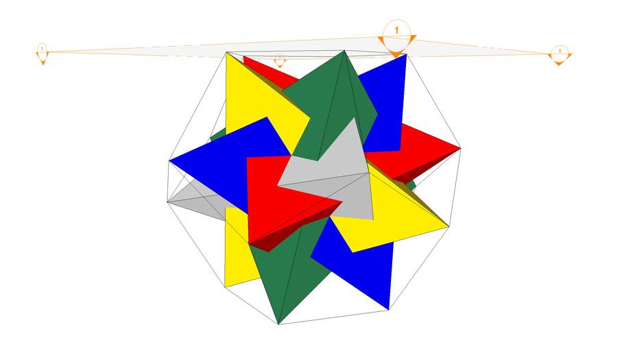 5 Tetraedros inscritos en dodecaedro