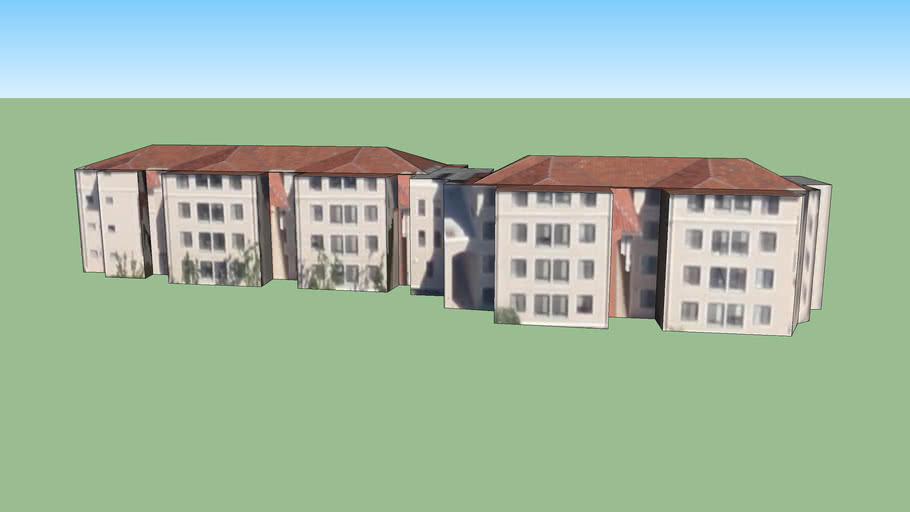 Sobrato Residence Hall, Back Building, Santa Clara University, CA 95053