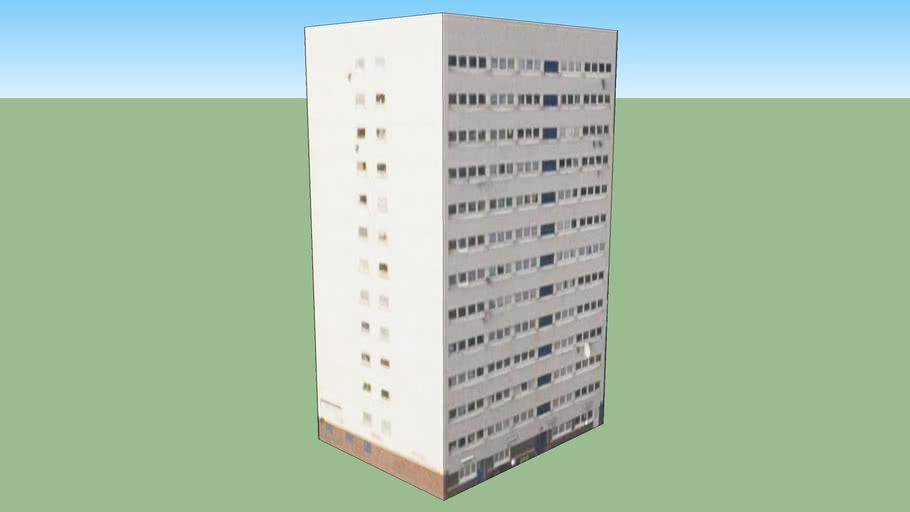Tower block in Birmingham, West Midlands B19 2UG, UK