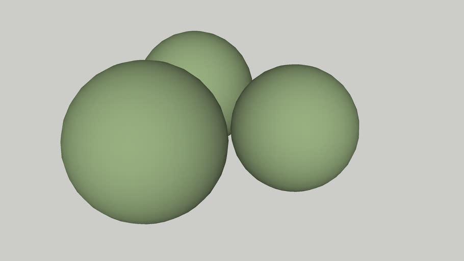 Three Giant Peas