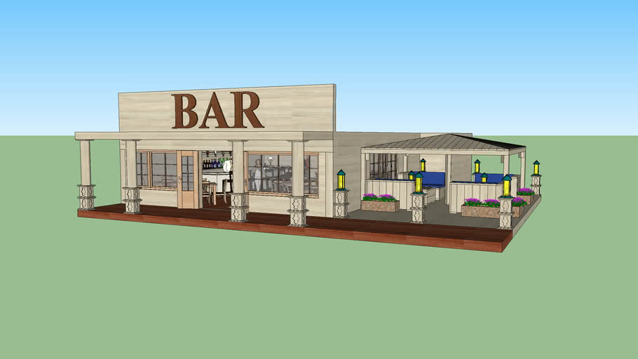Bar met lounge terras
