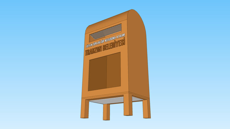 Mini Çöp Kutusu - 3D