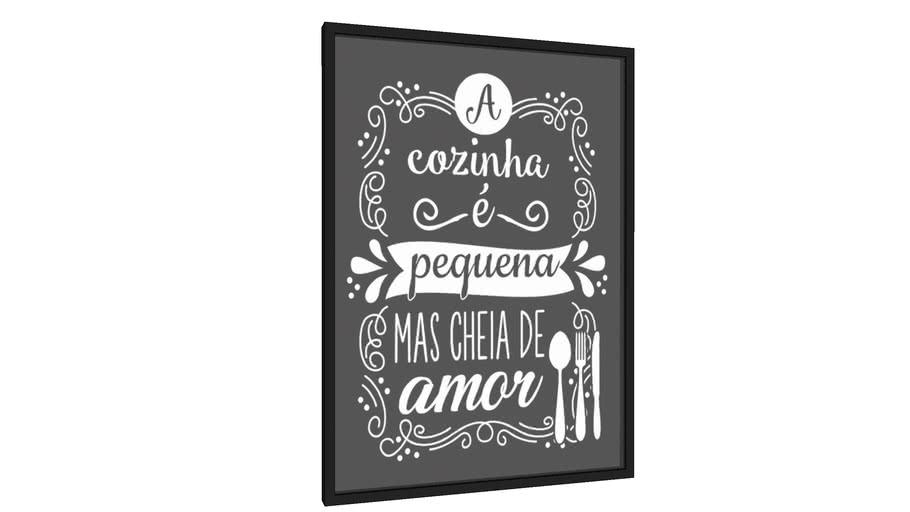 Quadro a cozinha é pequena mas cheia de amor - Galeria9, por Sabrina Matias