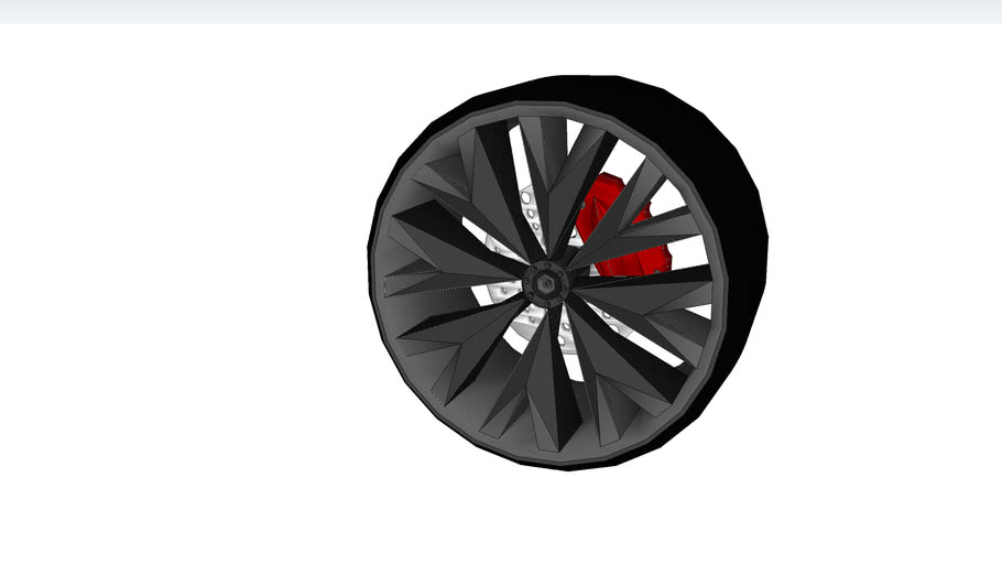 Car wheel with brakes by AAA