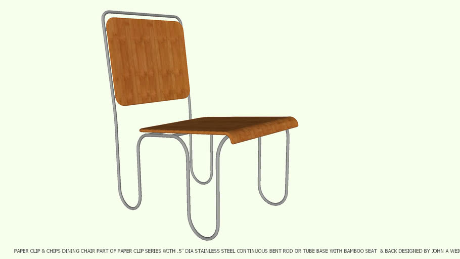 DINING CHAIR PAPER CLIP & CHIPS BY JOHN A WEICK RA & AP LEED