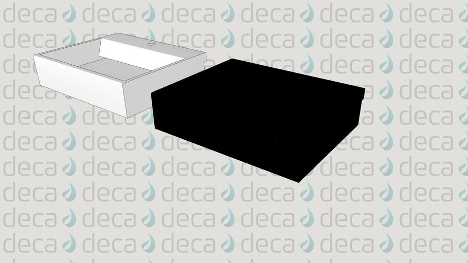 Deca Cuba de Semi-Encaixe Retangular - Código L.873 - Válvula Oculta