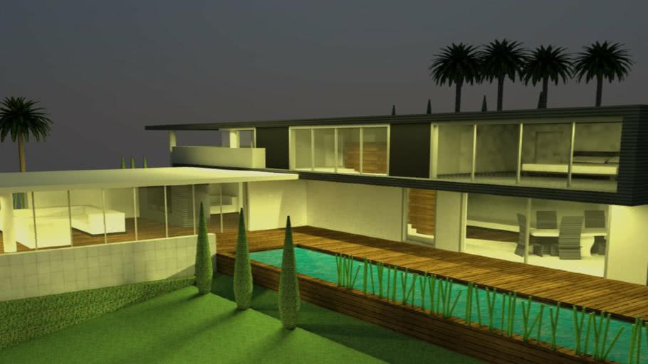 Modern House Night Version