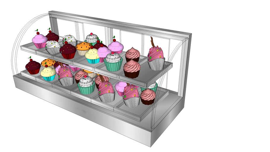 showcase o vitrina de dulces