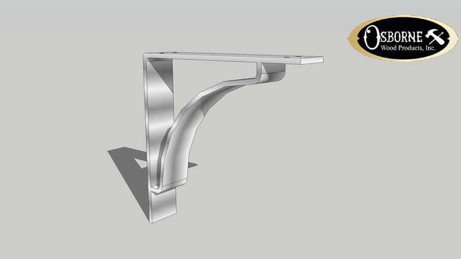 "Contemporary Steel Bracket (10"" x 2"" x 10"")"