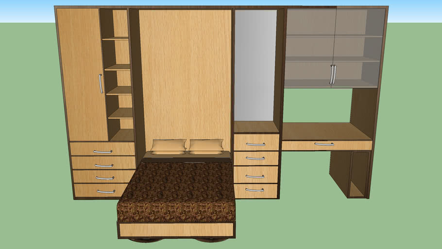 bed wardrobe dressing table