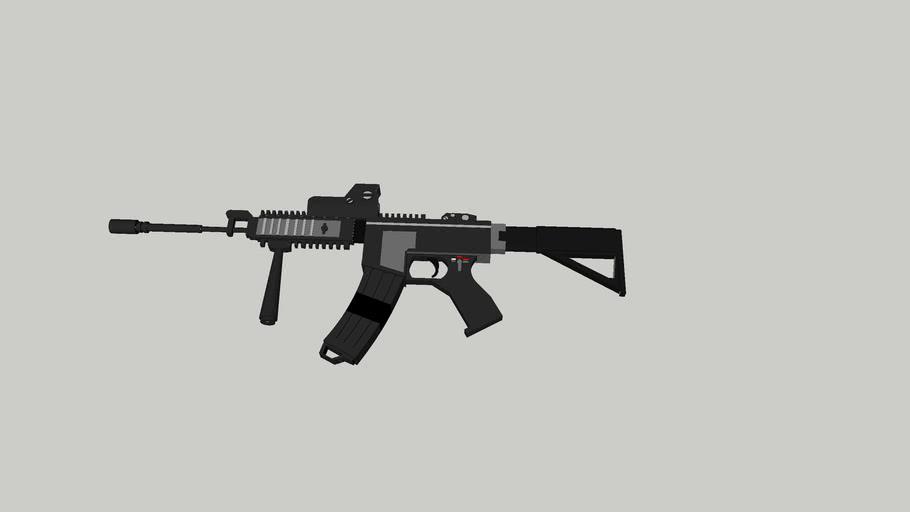 machine gun with laser sights