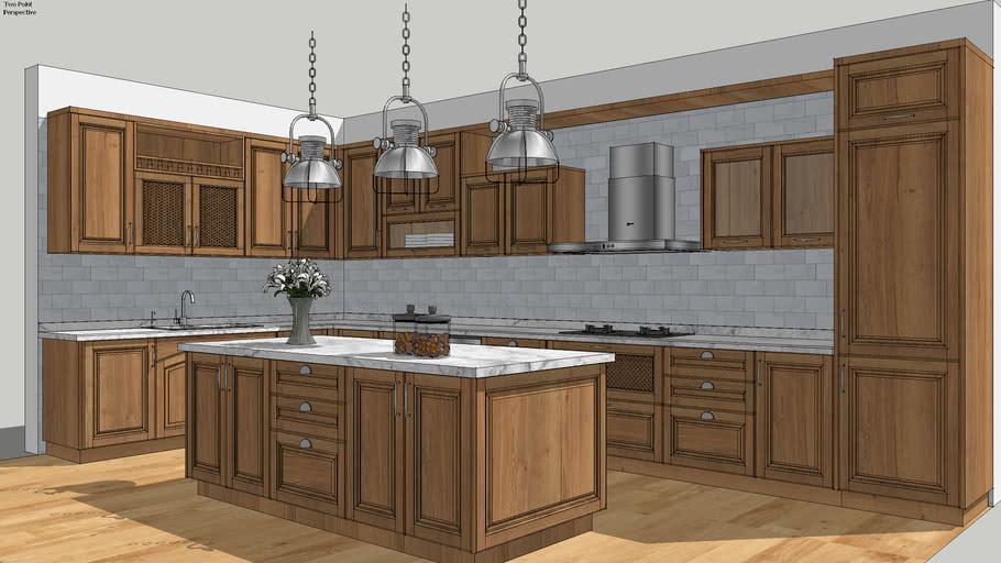 kitchen wood tone
