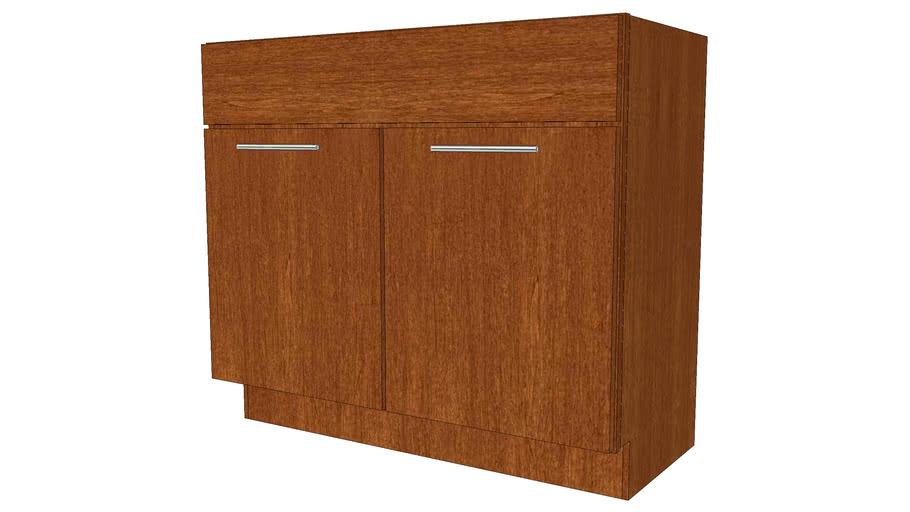 Vanity Cabinets - Kenyon Maple Chestnut by KraftMaid ...