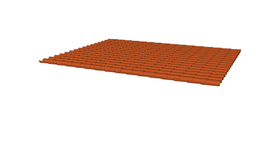 Red Tile Roof Field 15 X 19 3d Warehouse