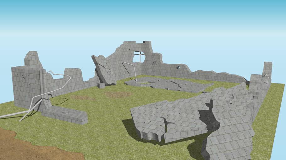 Battlefeild landscape: building debris 1
