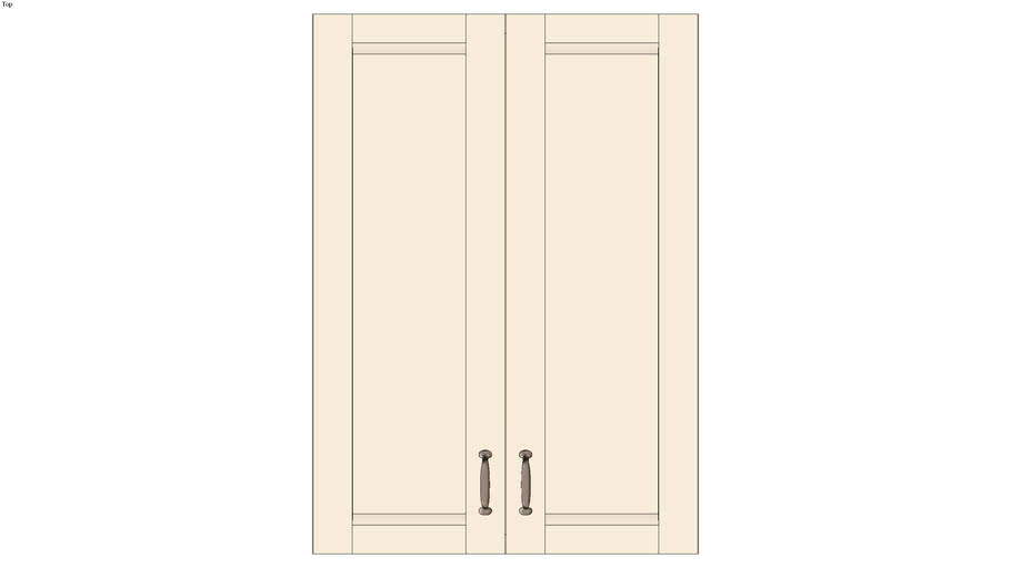 Wall Double Door 42H