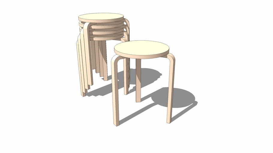 Alvar Aalto stacking table