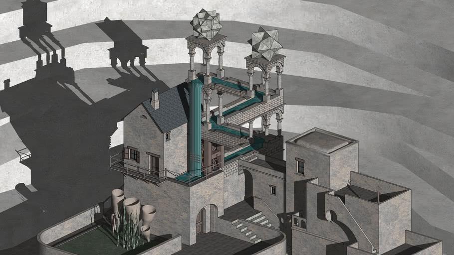 Waterfall M C Escher 3d Warehouse