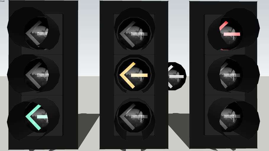 EOI LED 12-inch Left turn traffic signals