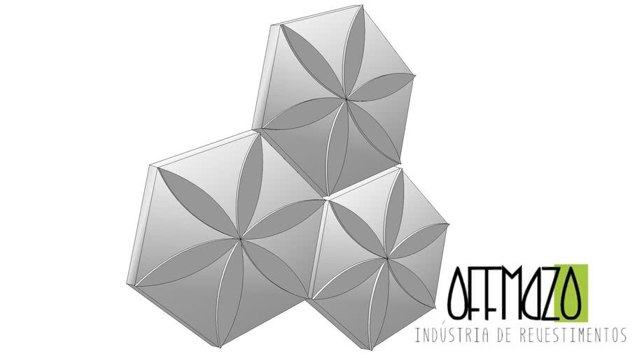 Revestimento 3D - Flor
