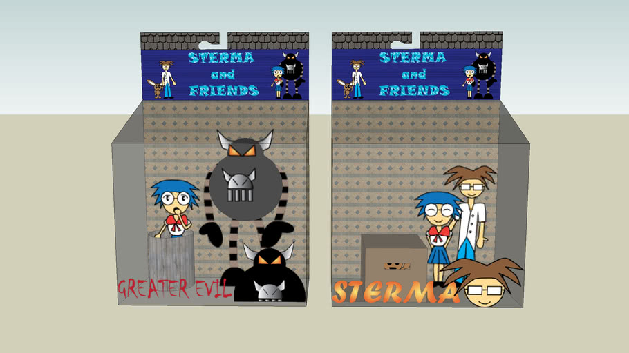 Sterma and Friends Action Figures
