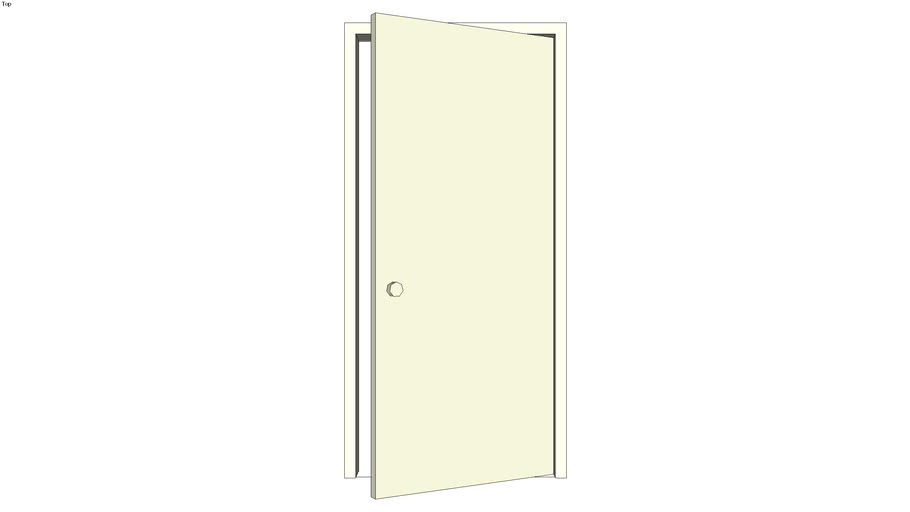 Door with jamb 3-ft right reverse ajar