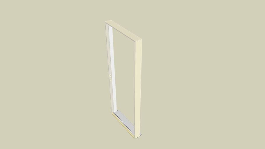 """Entry Door Frame 6'8"""" x 2'8"""" w/ mortises for door latch, deadbolt & hinges"""