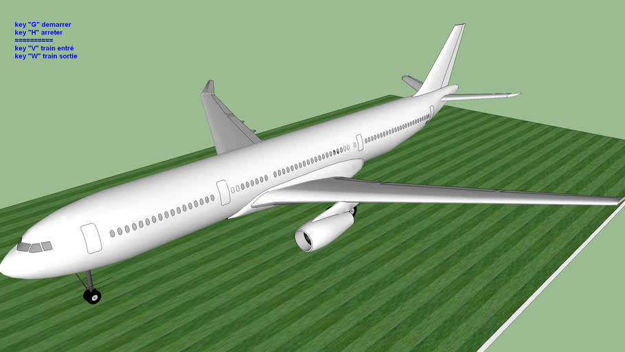 blank sketchyphysics airplane