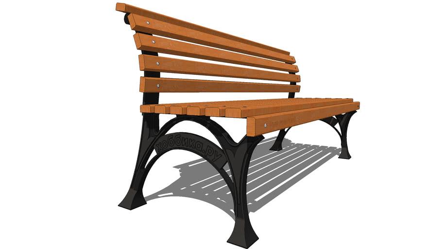 """Скамейка садовая """"Сквер"""" / park garden bench """"Square"""""""