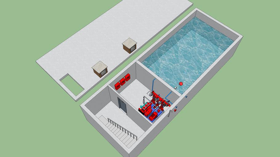 Vasca antincendio interrata - Underground fire tank
