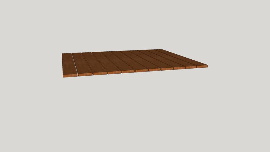 Tabuas para Deck cantos quadrados