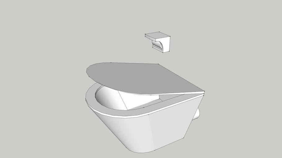 Bathroom Basics Toilet And Toilet Roll Holder 3d Warehouse