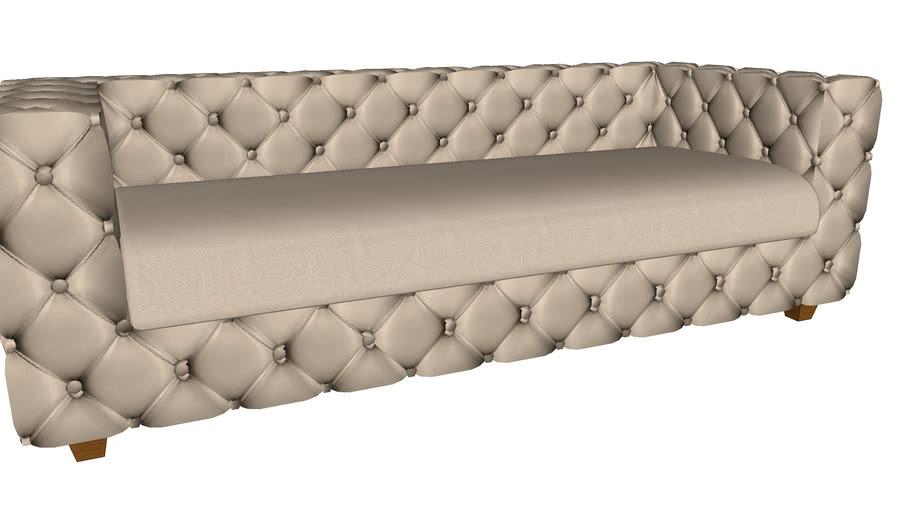 83436 Sofa Desire Velvet Ecru 3-seater