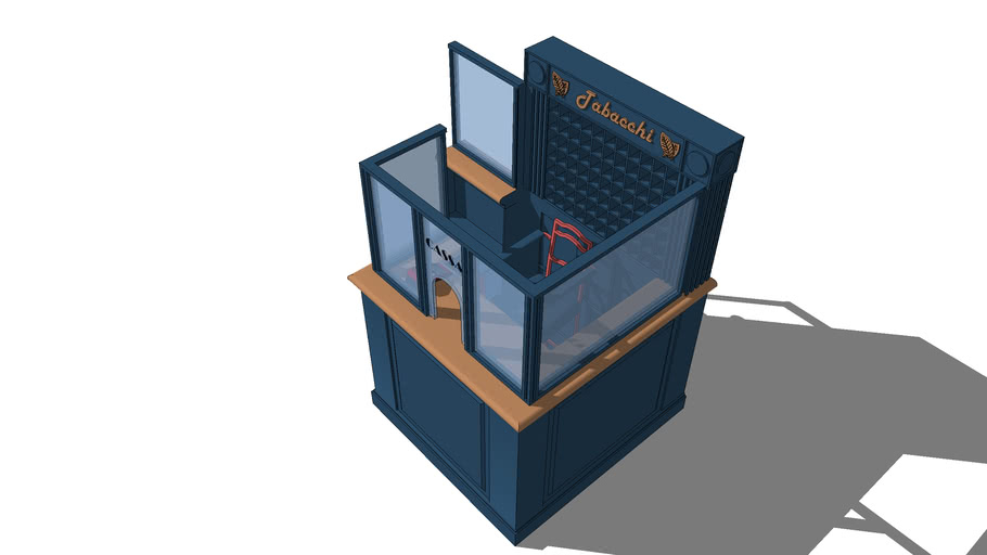 Cash counter and tobacconist for bars