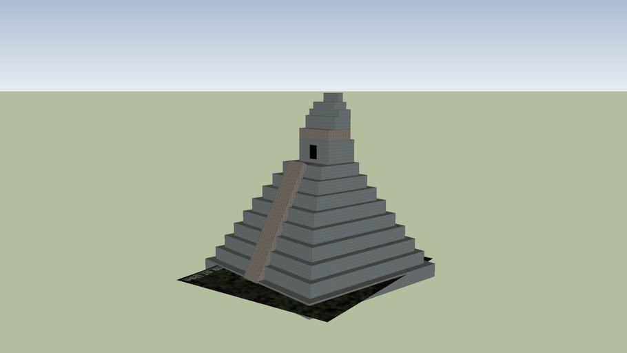 Tikal Temple III, Maya. (Height 55 m, base 45 x 45 m).