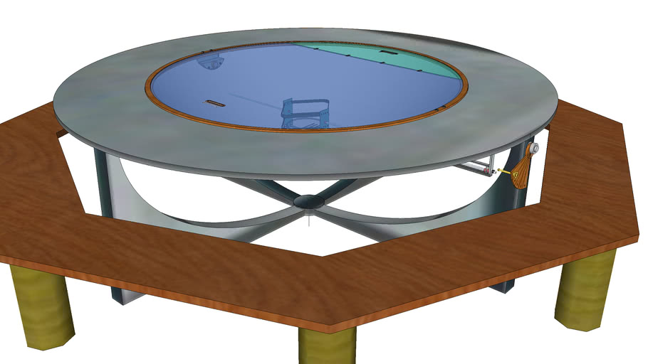 Solar cooker around a table