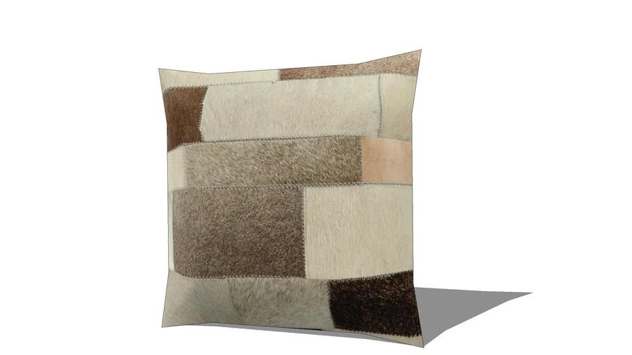 Coussin en cuir et coton beige 40 x 40 cm ARTY REF 156424 PRIX 39.99€