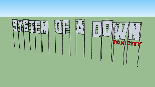 System of a Down's Toxicity Hollywood Sign