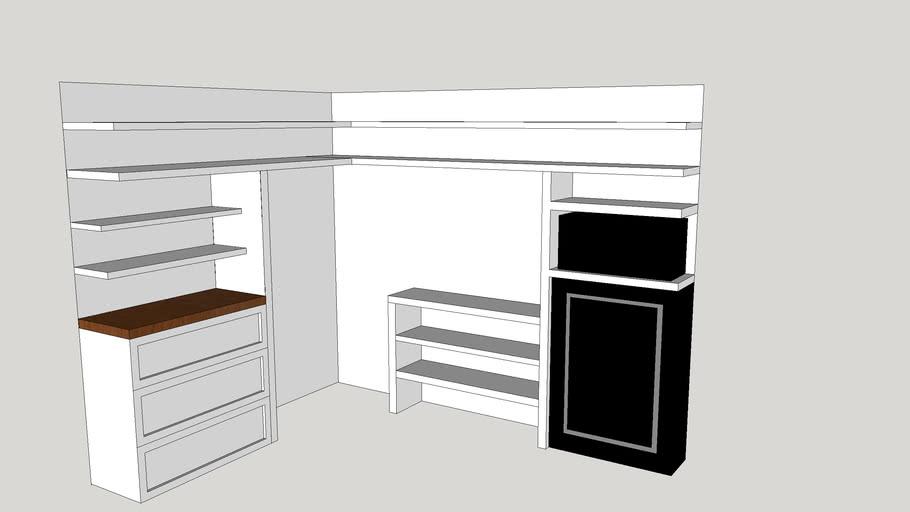 Kyson and Stefani's Desk and closet