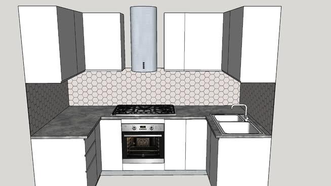 cucina a u | 3D Warehouse